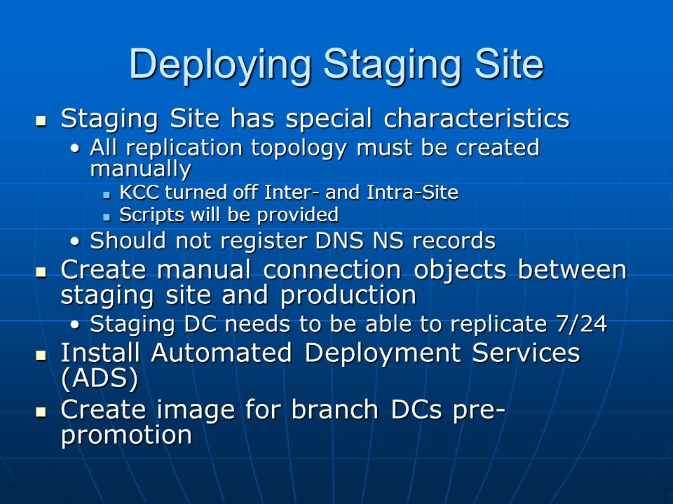 Deploying Staging Site