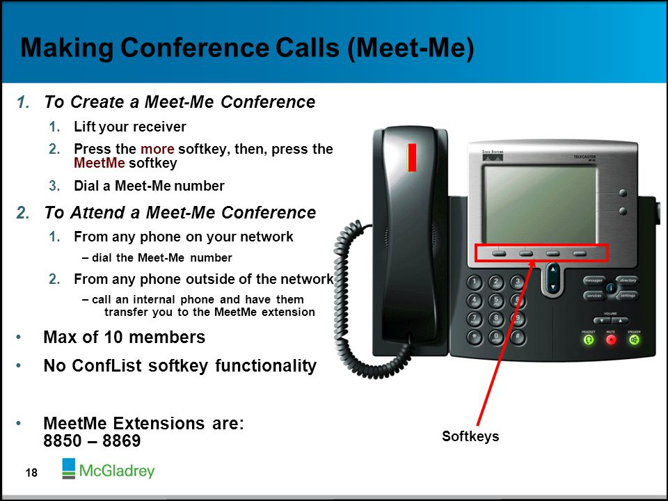 Making Conference Calls (Meet-Me)