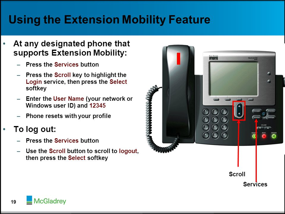 Using the Extension Mobility Feature