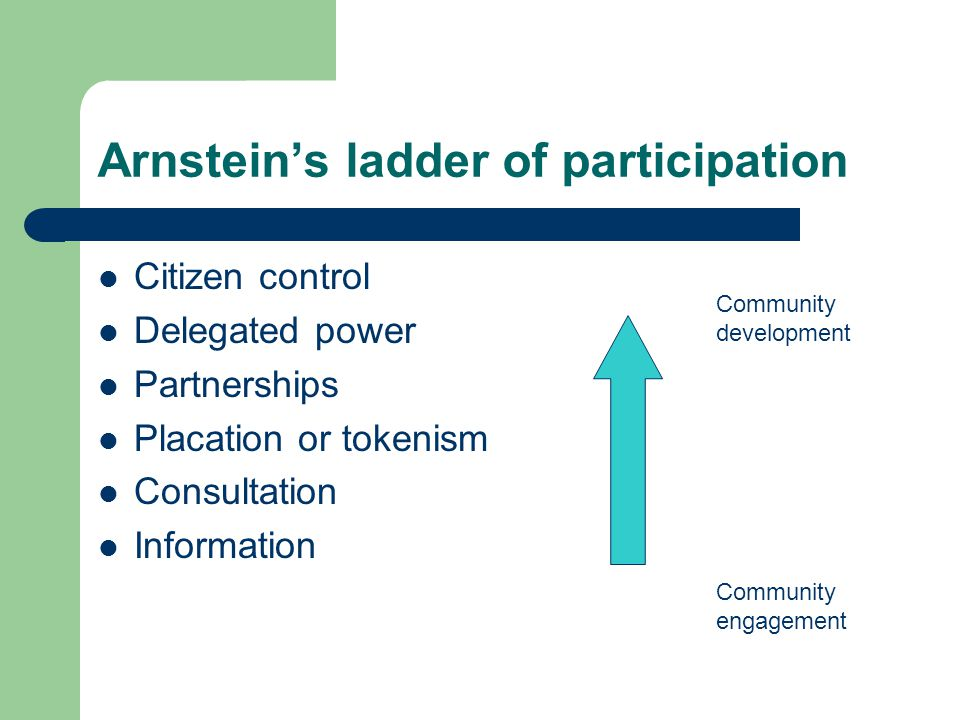 Arnstein's ladder of participation