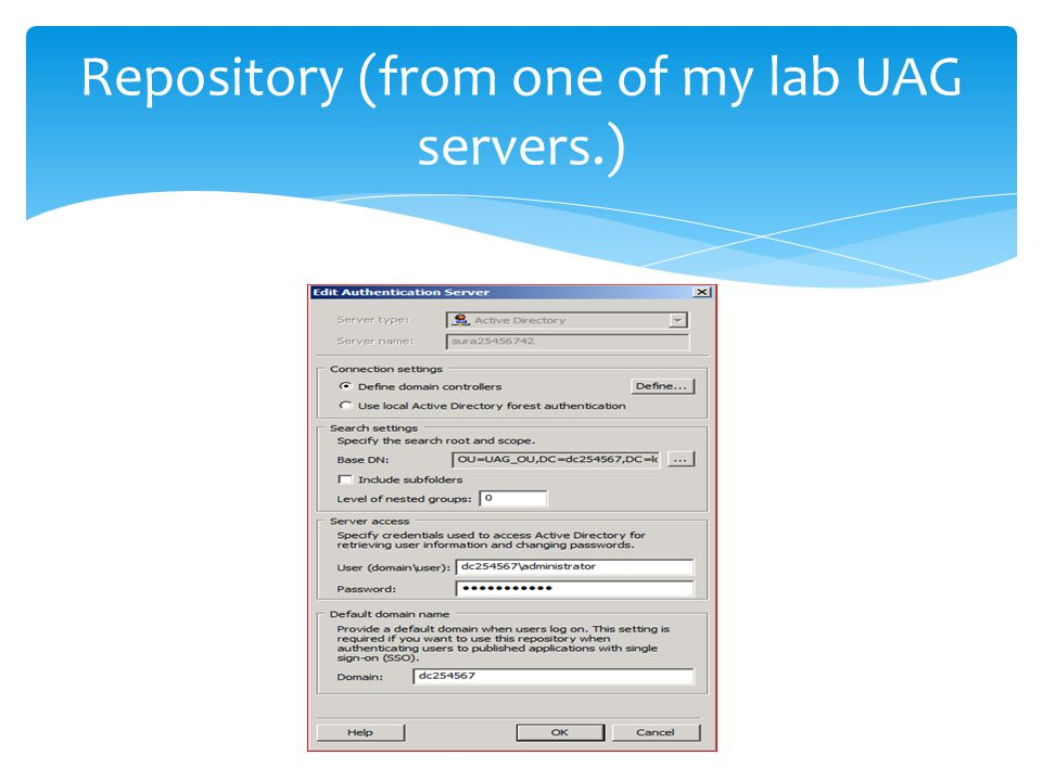 Repository (from one of my lab UAG servers.)