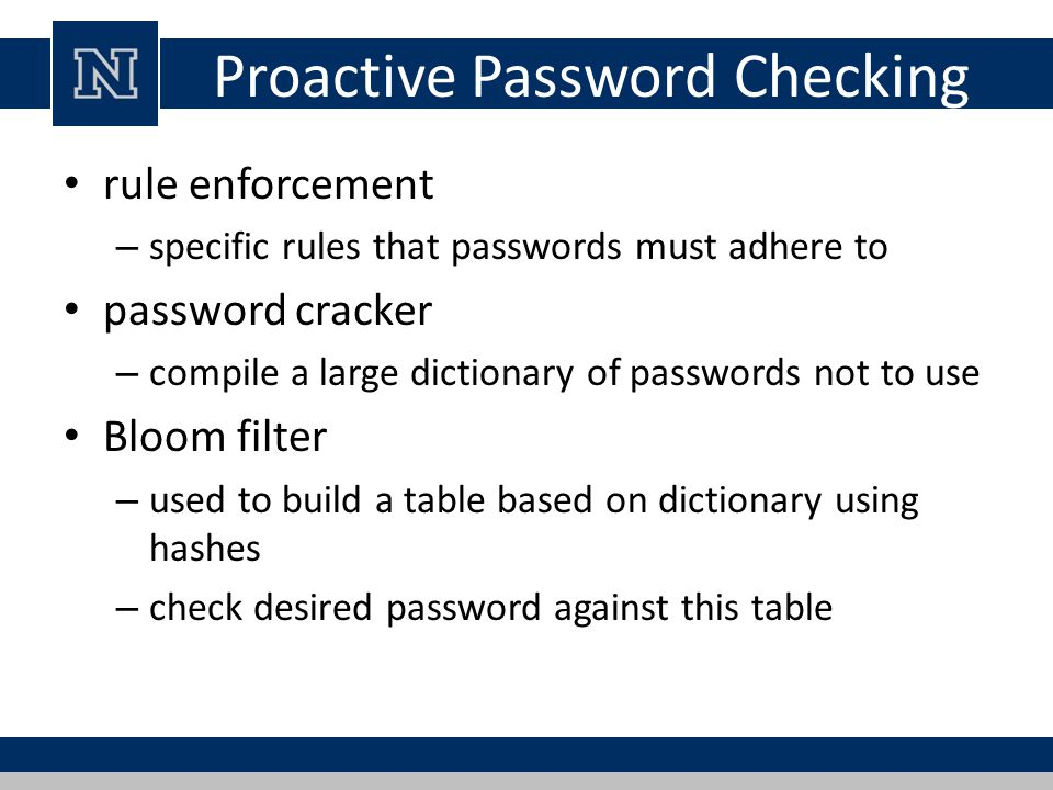 Lecture 6 User Authentication (cont) - ppt download