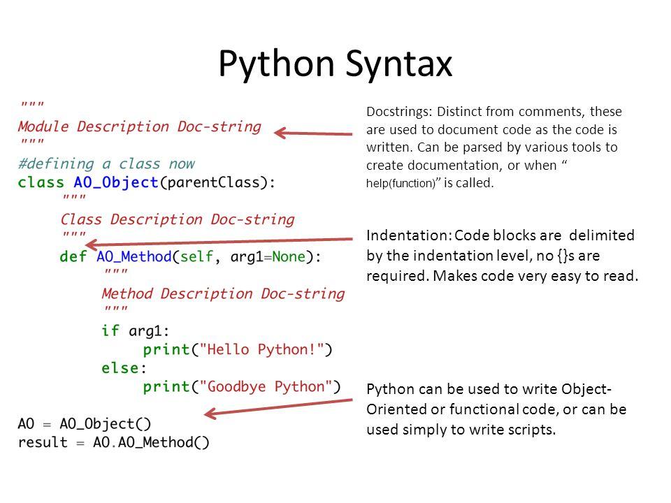 Python class doc