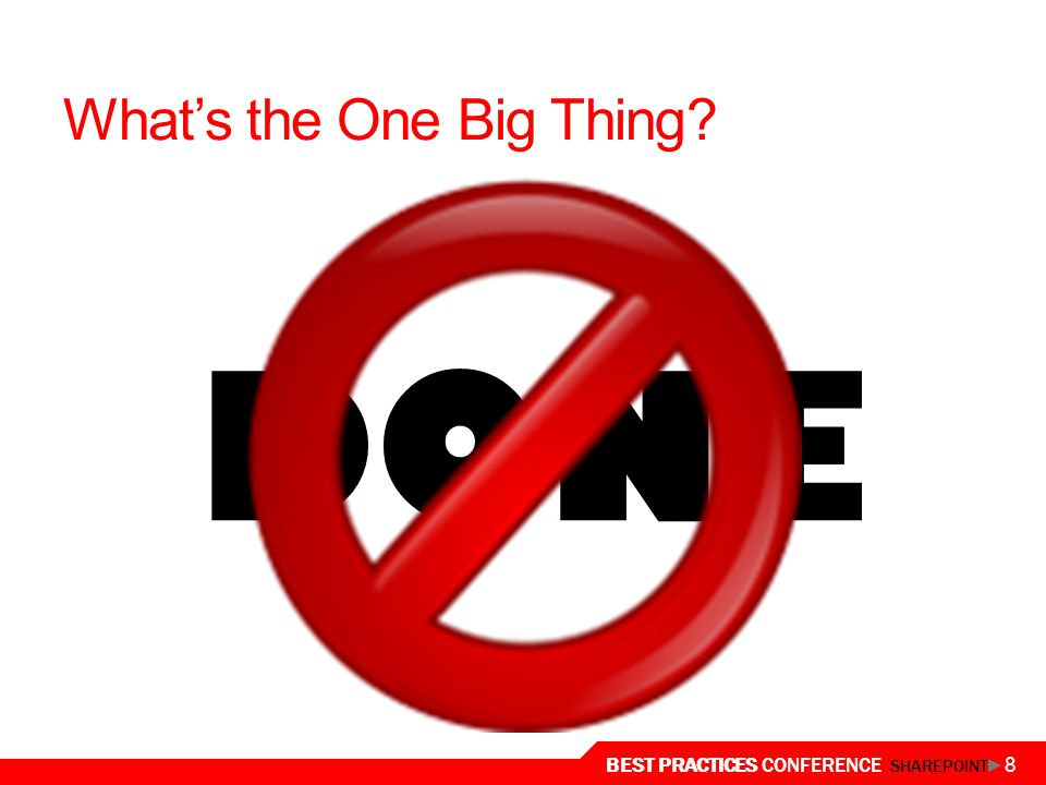 What's the One Big Thing