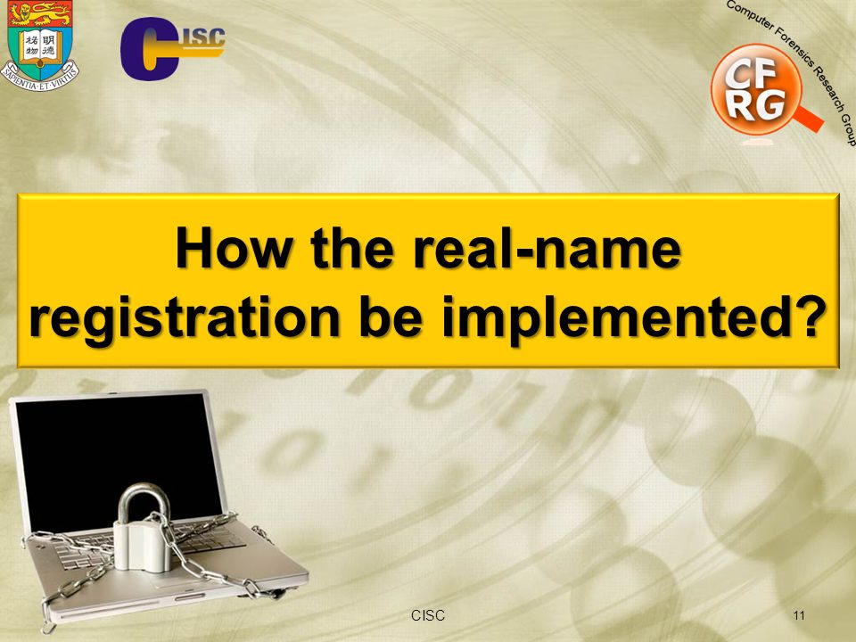 How the real-name registration be implemented