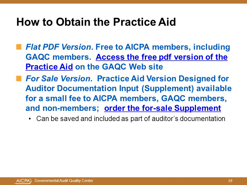 How to Obtain the Practice Aid