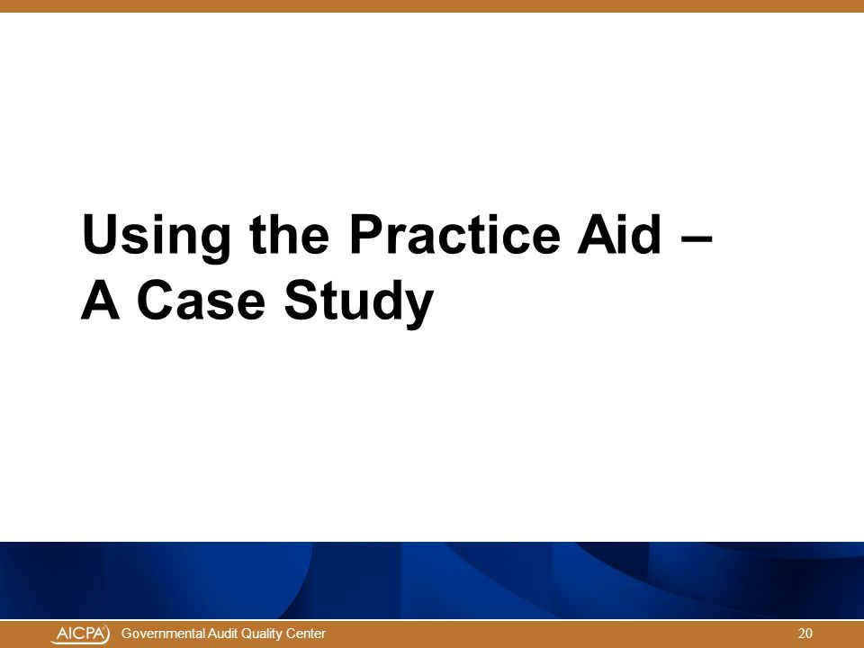 Using the Practice Aid – A Case Study