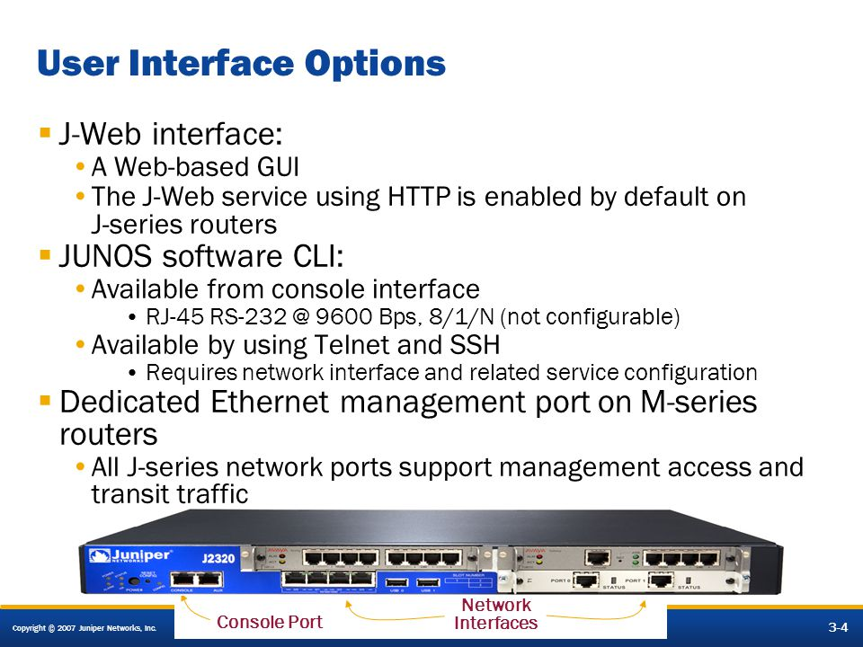 Operating Juniper Networks Routers in the Enterprise - ppt