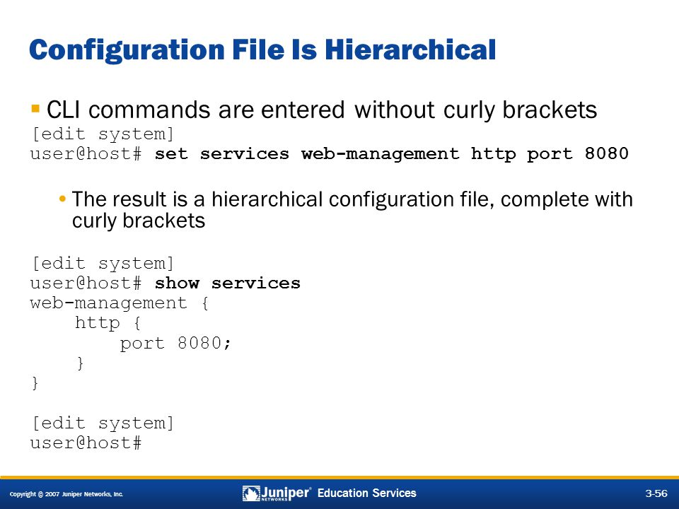 Configuration File Is Hierarchical