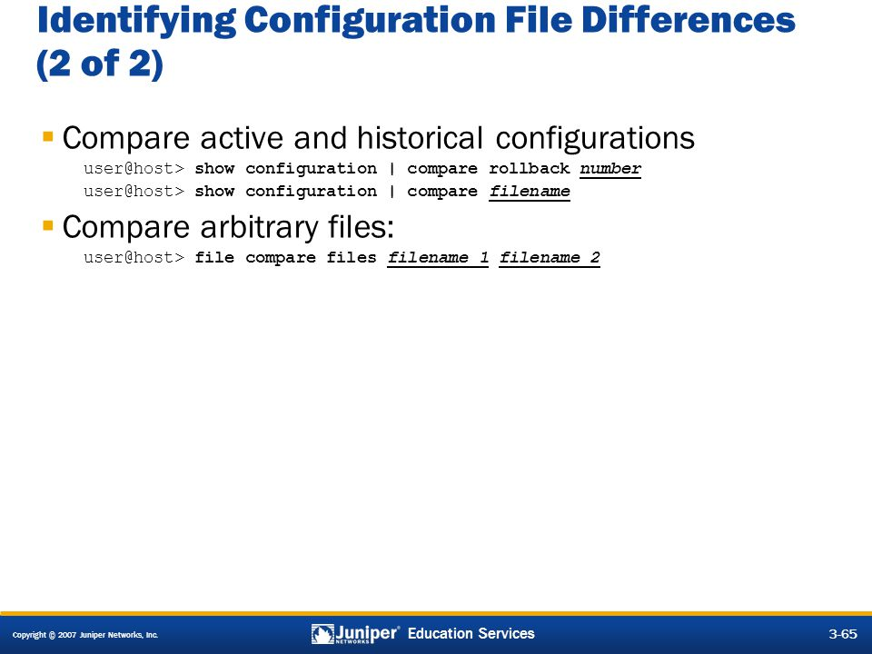 Identifying Configuration File Differences (2 of 2)