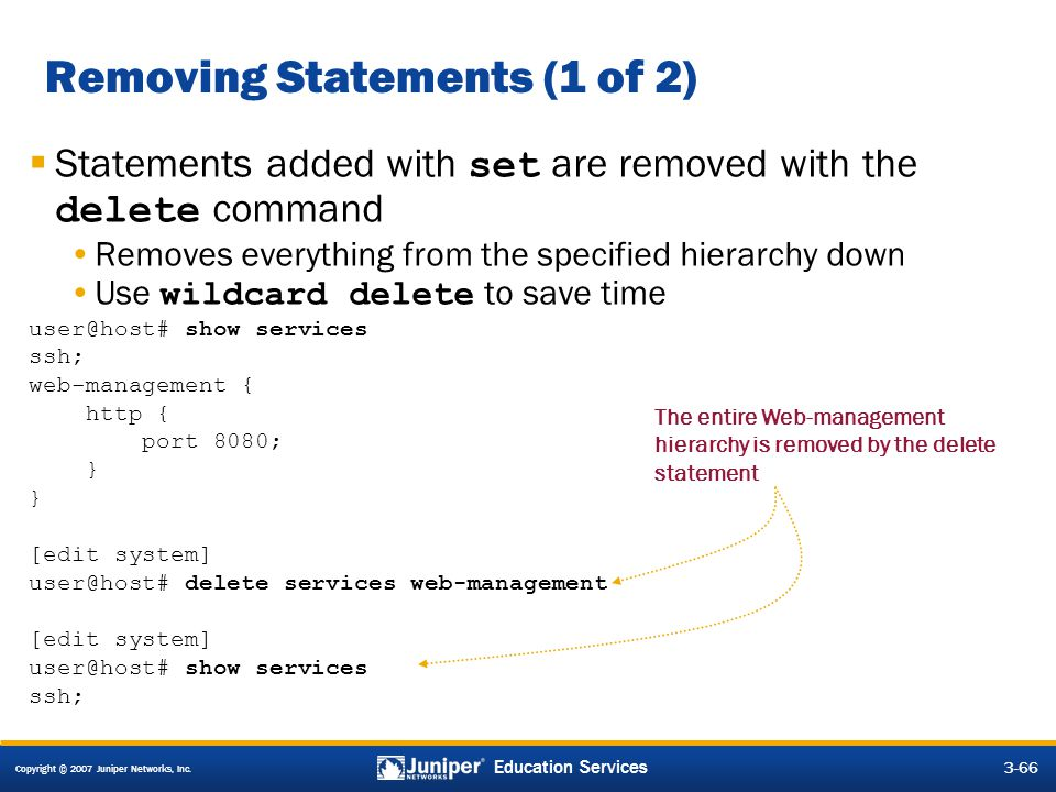 Removing Statements (1 of 2)