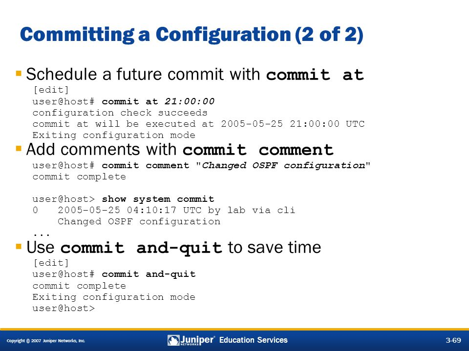 Committing a Configuration (2 of 2)