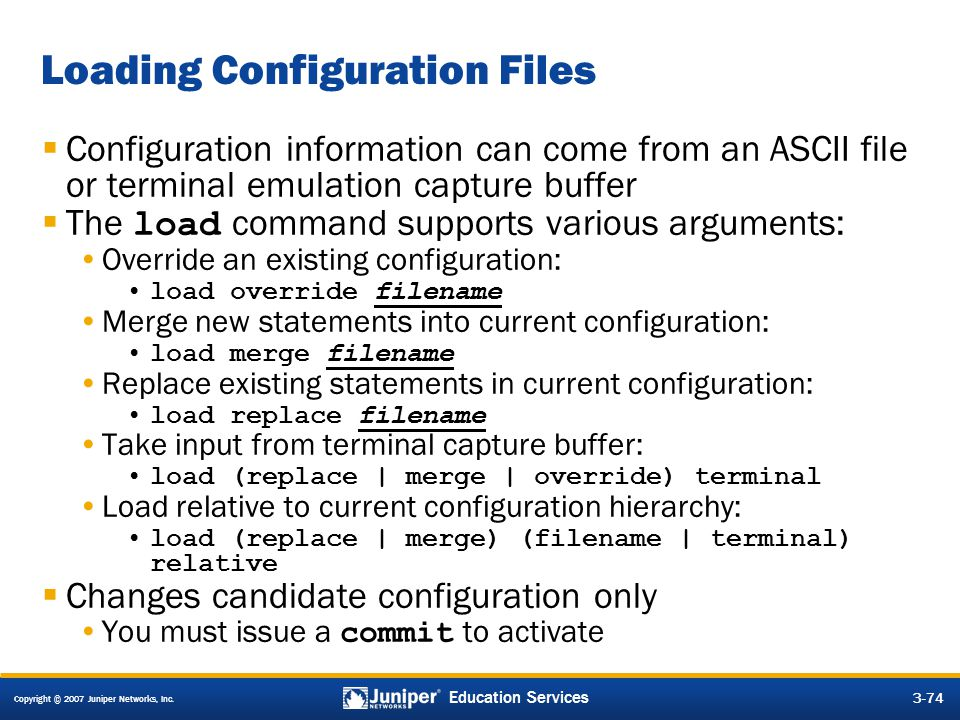 Loading Configuration Files