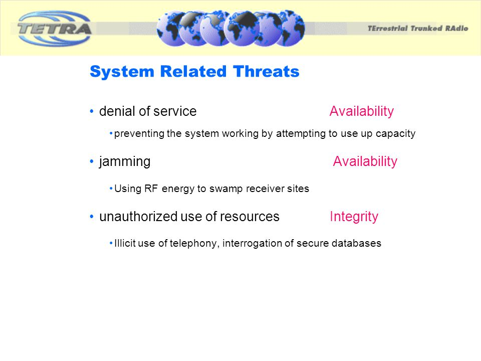 System Related Threats