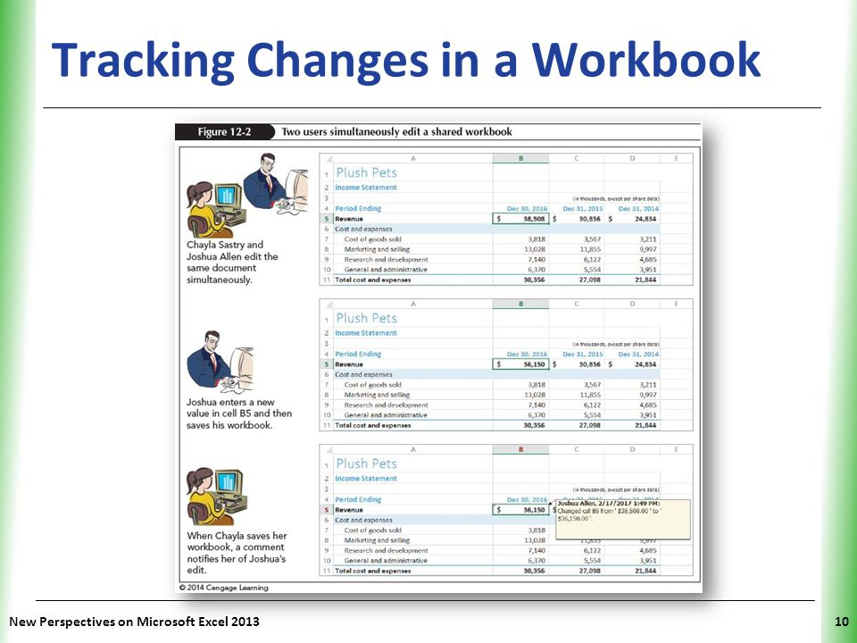 Tracking Changes in a Workbook