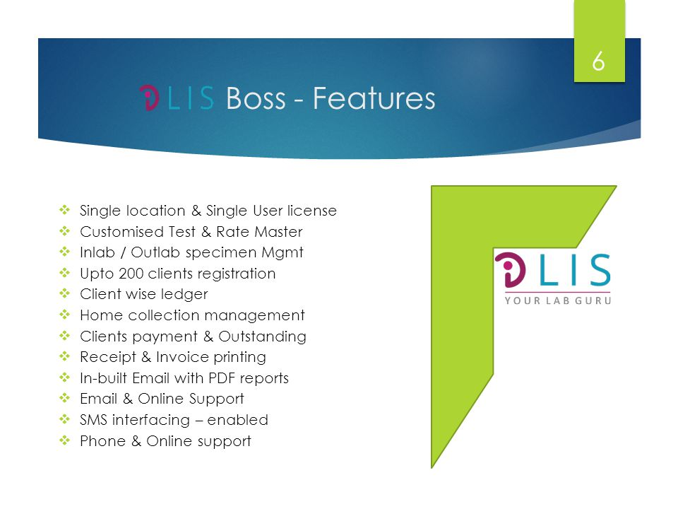 Boss - Features Single location & Single User license