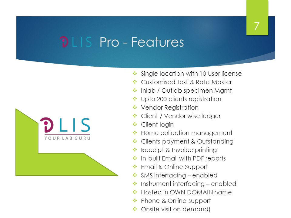 Pro - Features Single location with 10 User license