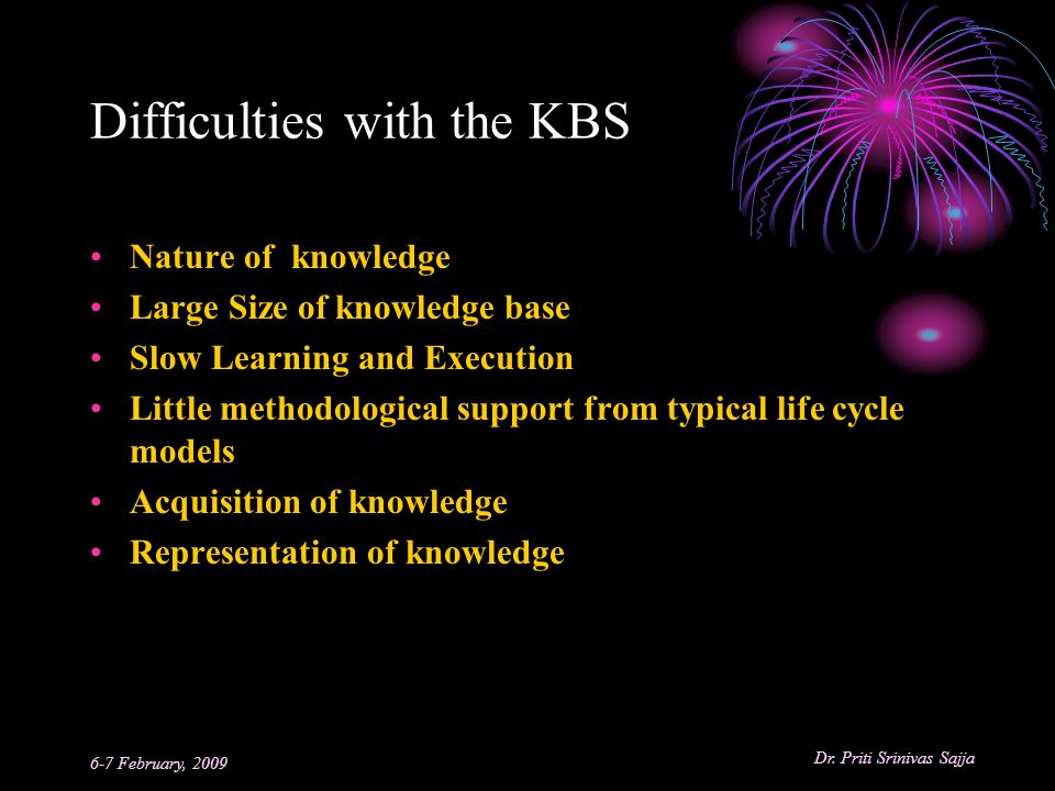 Difficulties with the KBS