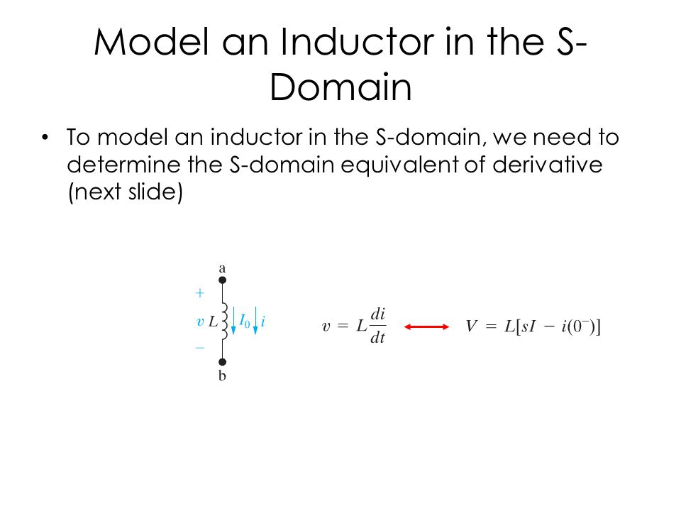 Model an Inductor in the S-Domain