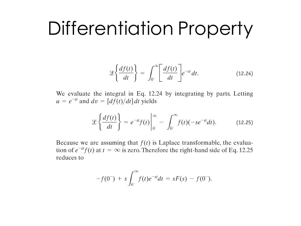Differentiation Property