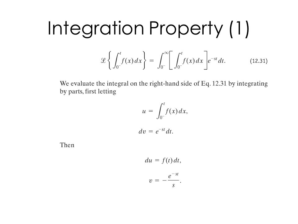 Integration Property (1)