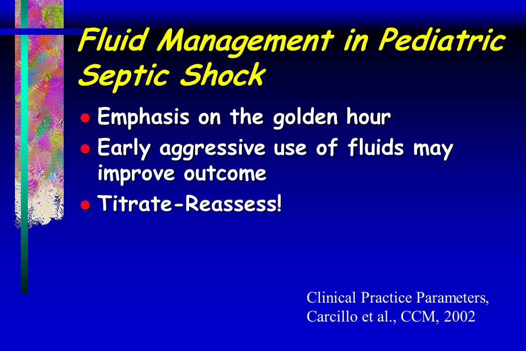 Fluid Management in Pediatric Septic Shock