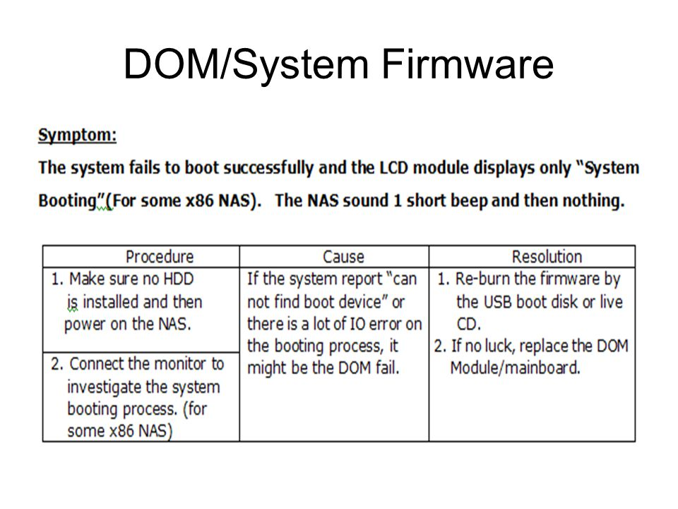 DOM/System Firmware