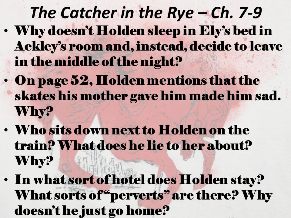 The Catcher In The Rye Quiz 1 Ppt Video Online Download