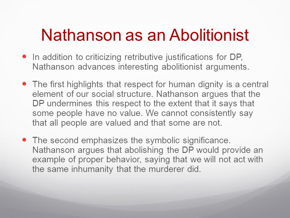 Nathanson as an Abolitionist
