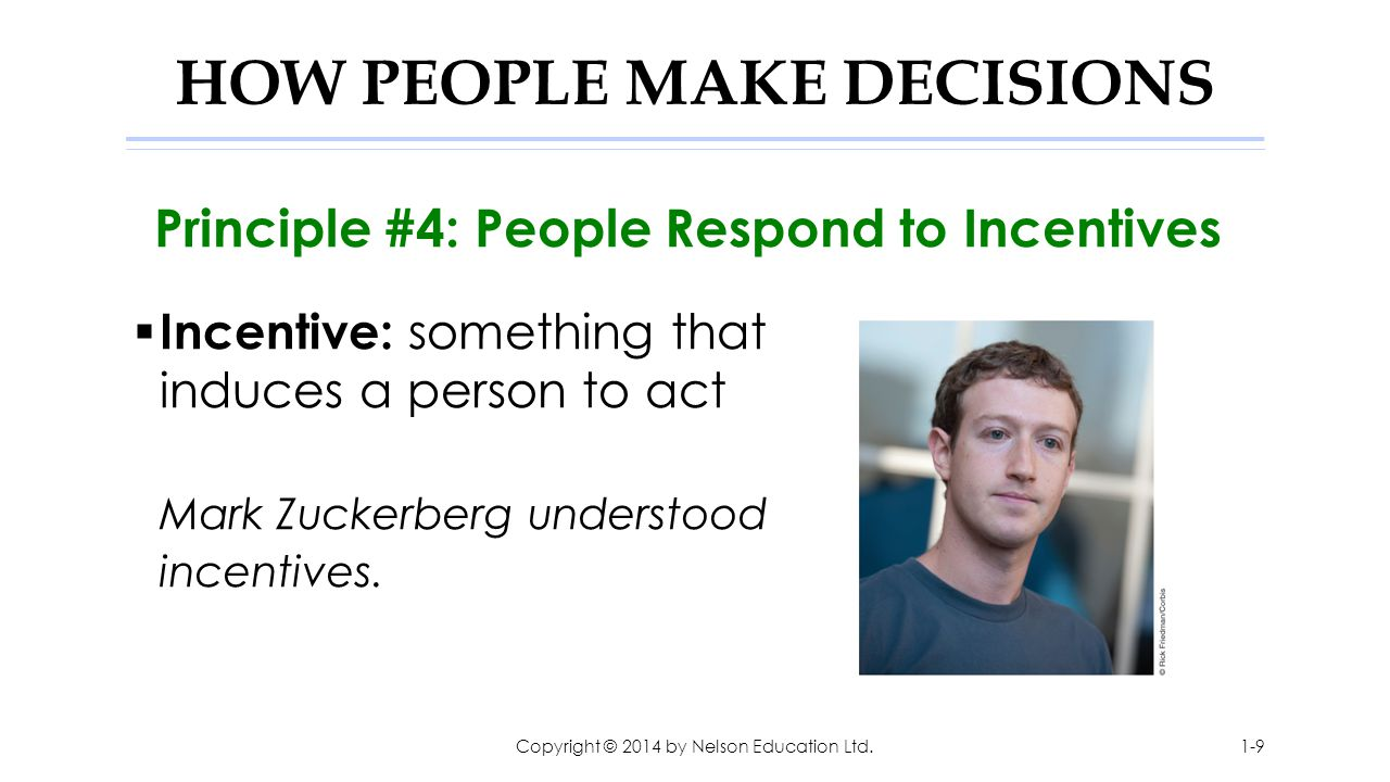 HOW PEOPLE MAKE DECISIONS