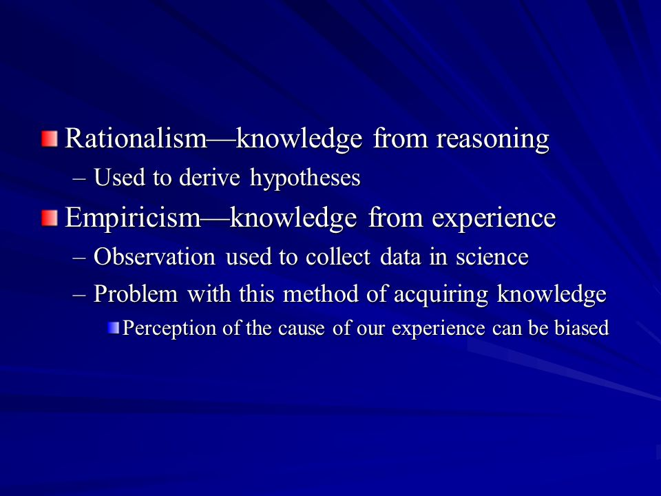 Rationalism—knowledge from reasoning