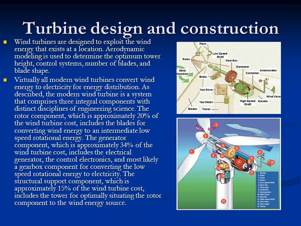 Turbine design and construction