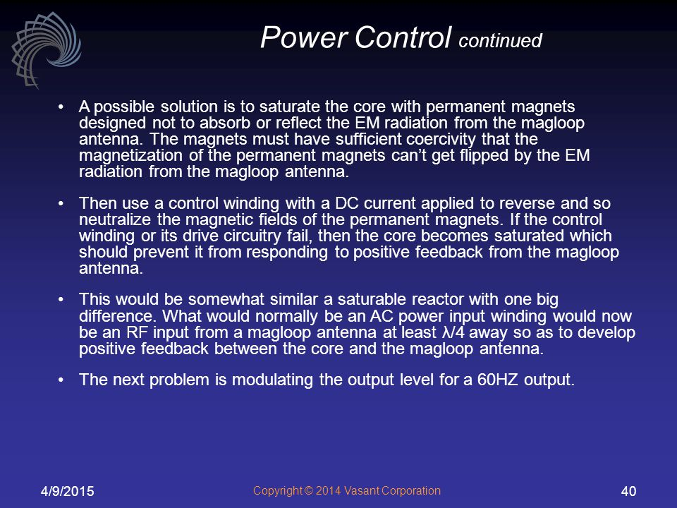 Power Control continued