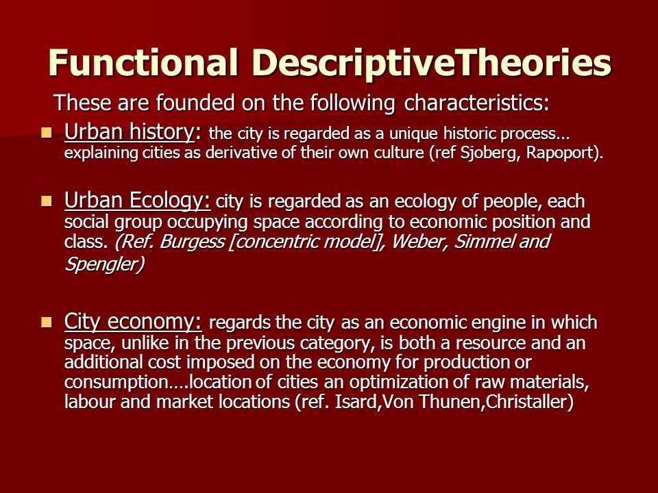 Functional DescriptiveTheories