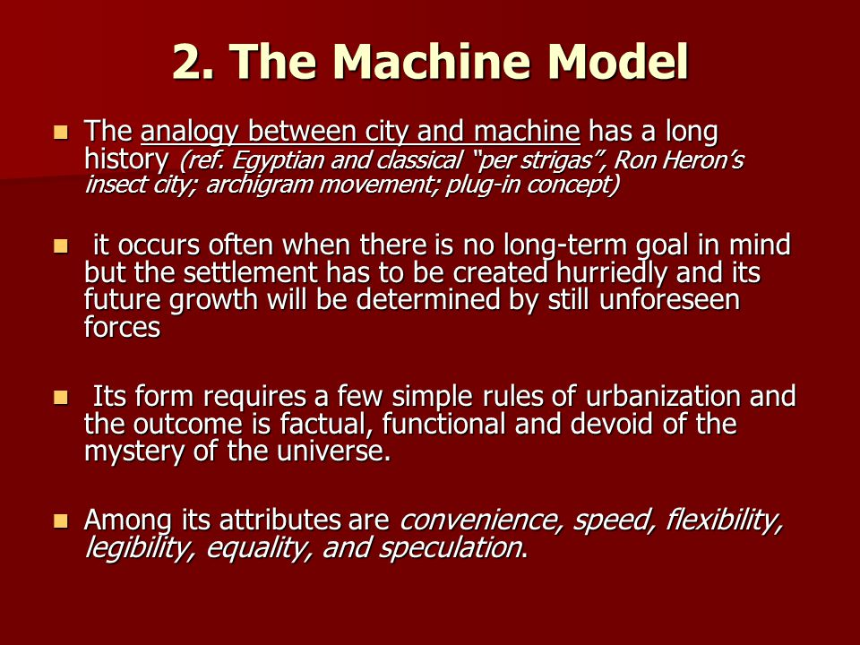 2. The Machine Model