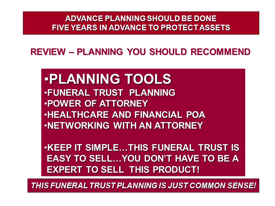PLANNING TOOLS REVIEW – PLANNING YOU SHOULD RECOMMEND