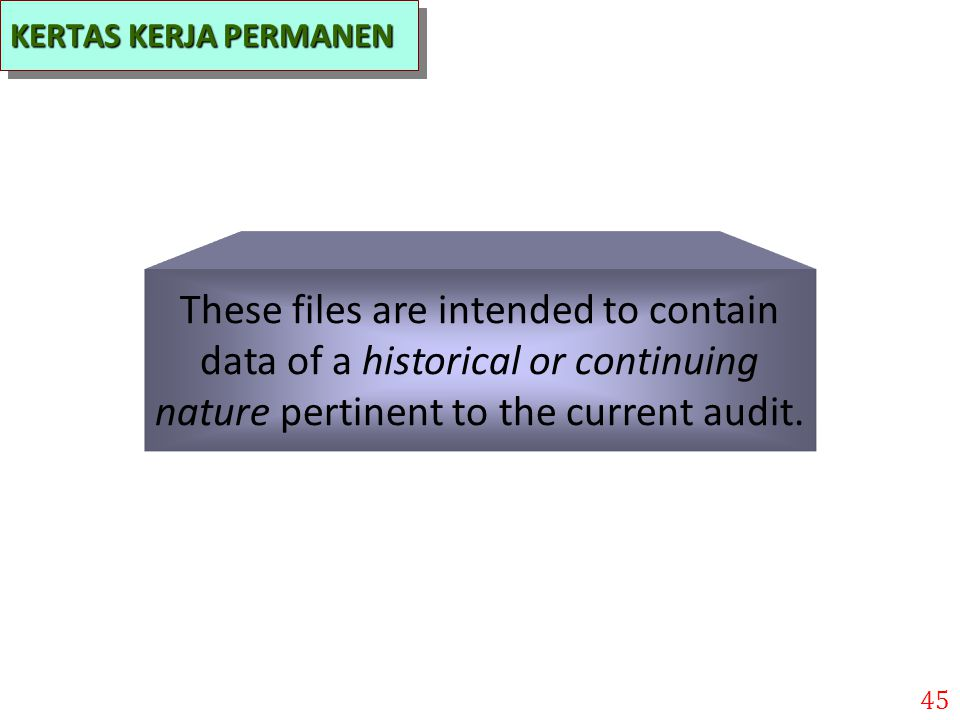 These files are intended to contain data of a historical or continuing