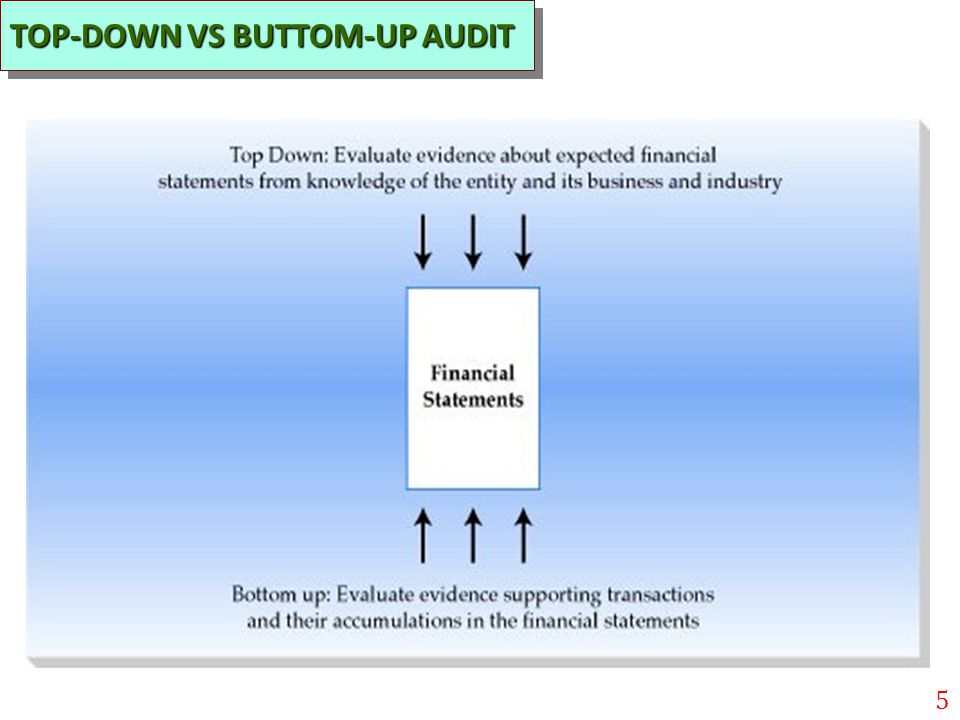 TOP-DOWN VS BUTTOM-UP AUDIT