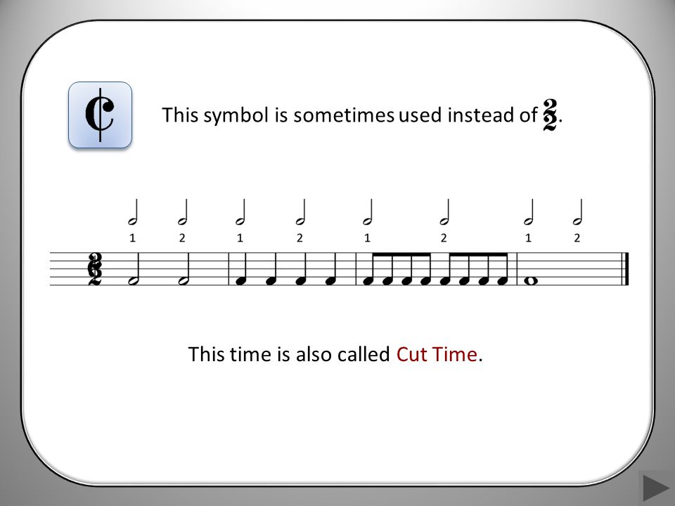This time is also called Cut Time.
