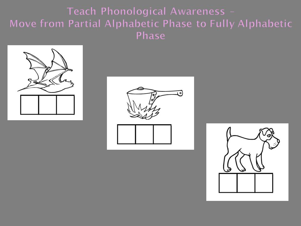 Teach Phonological Awareness – Move from Partial Alphabetic Phase to Fully Alphabetic Phase