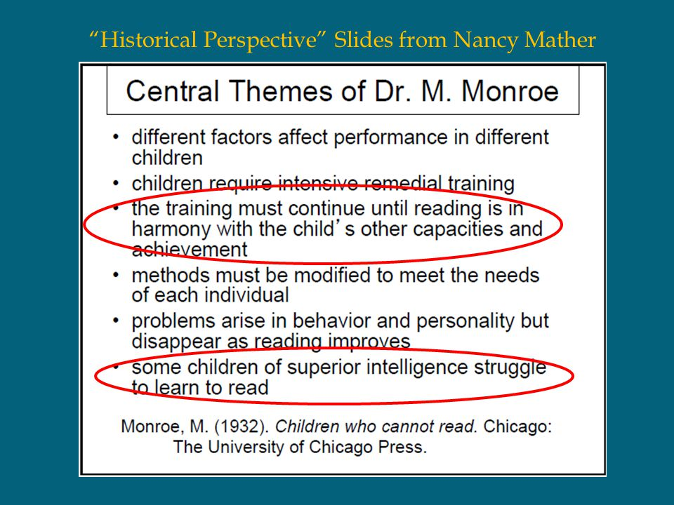 Historical Perspective Slides from Nancy Mather