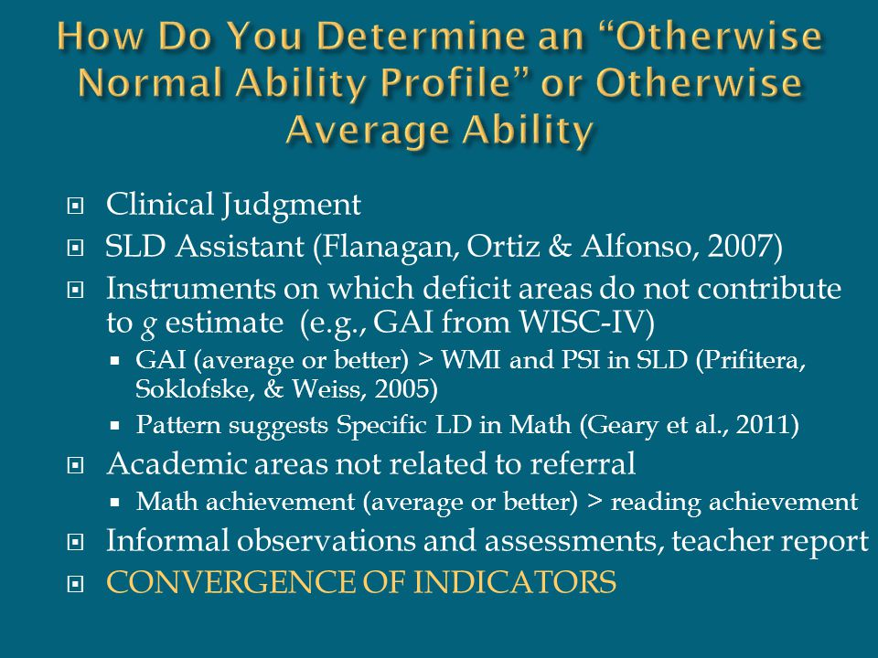 How Do You Determine an Otherwise Normal Ability Profile or Otherwise Average Ability