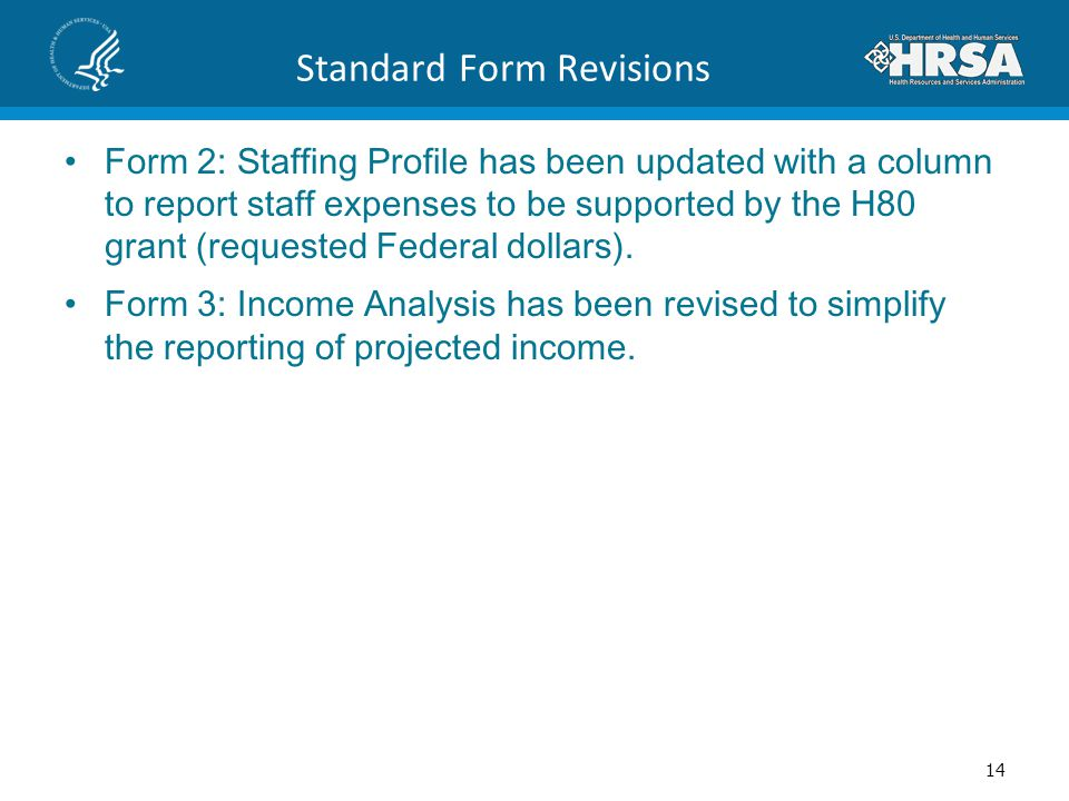 Standard Form Revisions