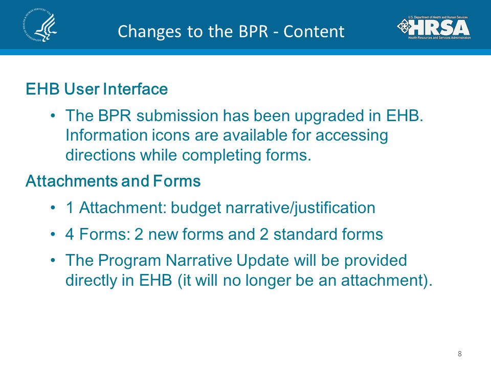 Changes to the BPR - Content