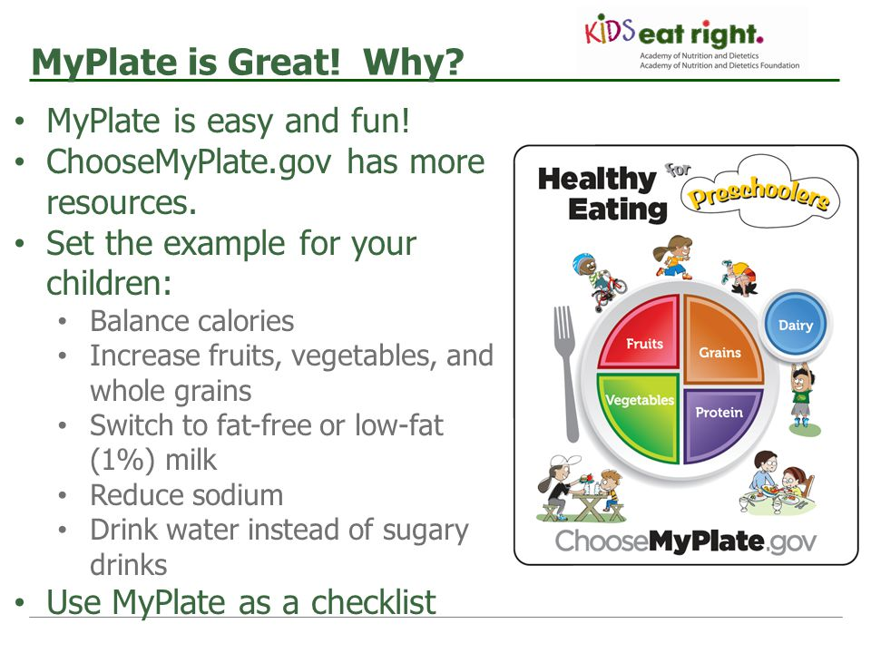 MyPlate is Great! Why MyPlate is easy and fun!