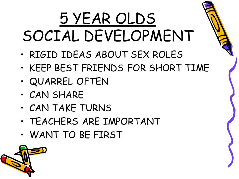 5 YEAR OLDS SOCIAL DEVELOPMENT