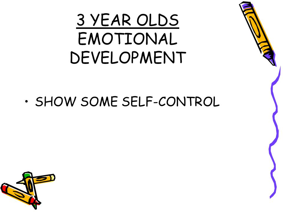3 YEAR OLDS EMOTIONAL DEVELOPMENT