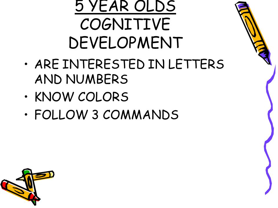 5 YEAR OLDS COGNITIVE DEVELOPMENT