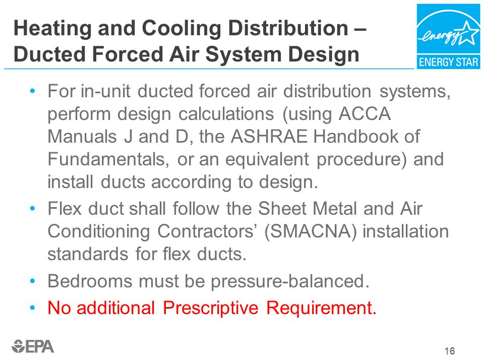 Heating and Cooling Distribution – Ducted Forced Air System Design