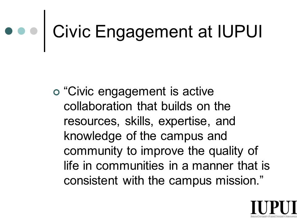 Civic Engagement at IUPUI